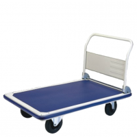 Heavy duty folding platform trolley