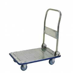 Small stainless folding platform trolley
