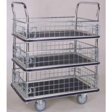3 shelf platform trolley with ledge
