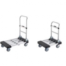 Telescopic handle aluminum hand truck