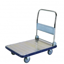 Large galvanized folding platform trolley