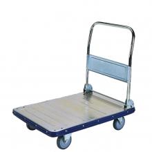 Large galvanized folding platform trolley