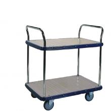 Large 2 shelf platform trolley