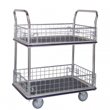2 shelf platform trolley with ledge