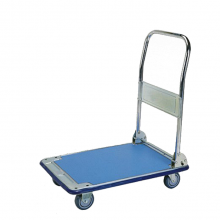 Small galvanized folding platform trolley