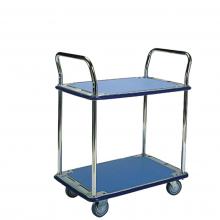 Small 2 shelf platform trolley