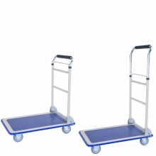 Telescopic handle trolley