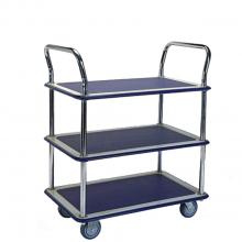 Small 3 shelf platform trolley