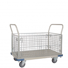 Heavy duty cage platform trolley
